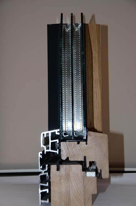 Profil 78 Drvo Aluminijum